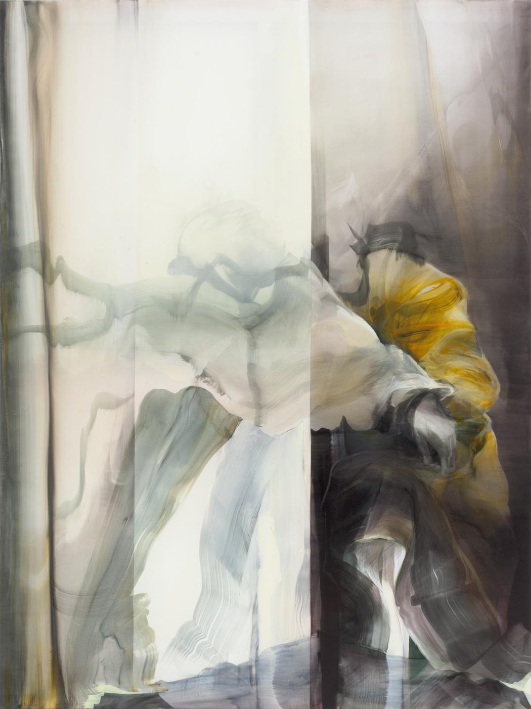 Almond Joy VI, 2015, Öl auf Nylon, 200 x 150 cm