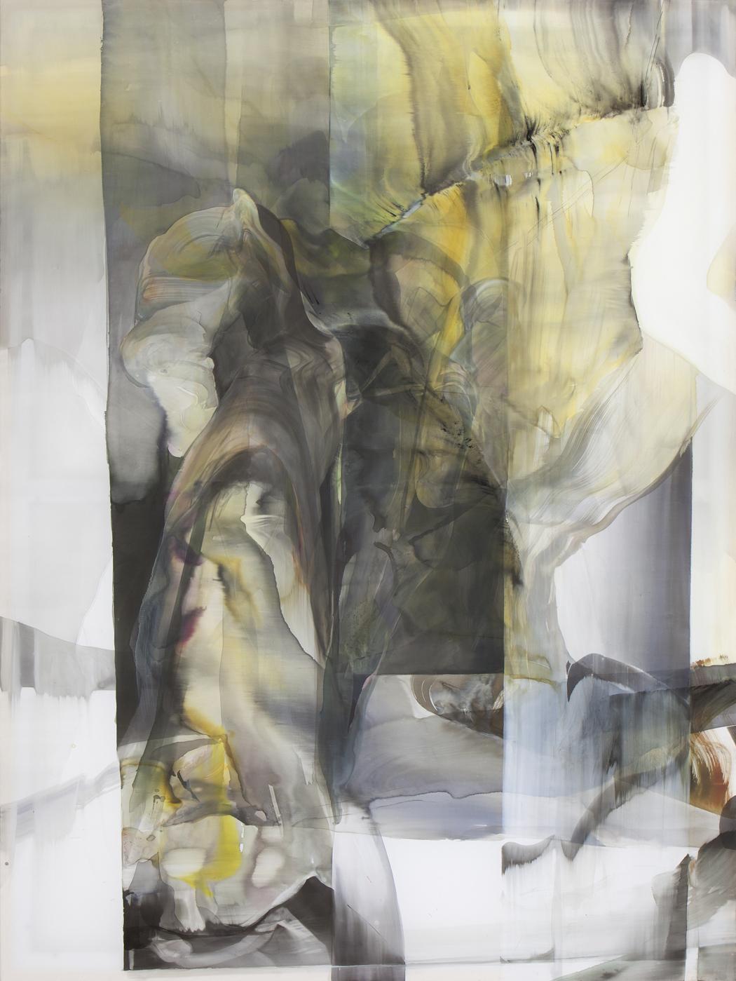 Natascha Schmitten_Willow, 2016, Tusche auf Nylon, 200 x 150 cm