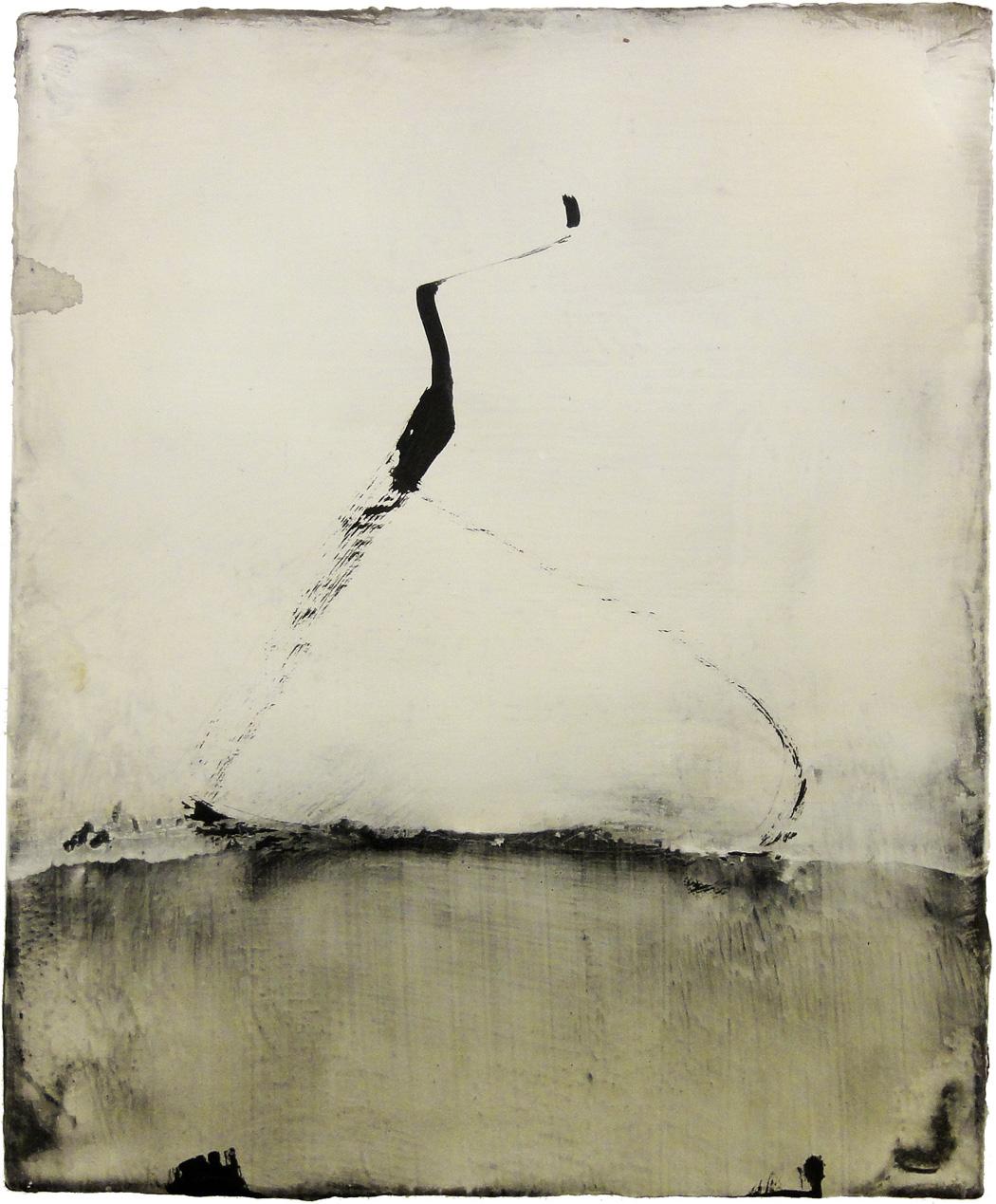 Hideaki Yamanobe_Klangassoziationen Form No. 125, 2015, Acryl-Mischtechnik auf LW, 28 x 23 cm