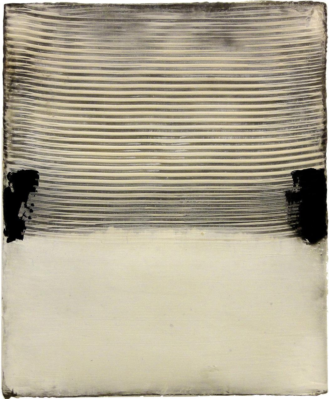 Hideaki Yamanobe_Klangassoziationen Form No. 126, 2015, Acryl-Mischtechnik auf LW, 28 x 23 cm