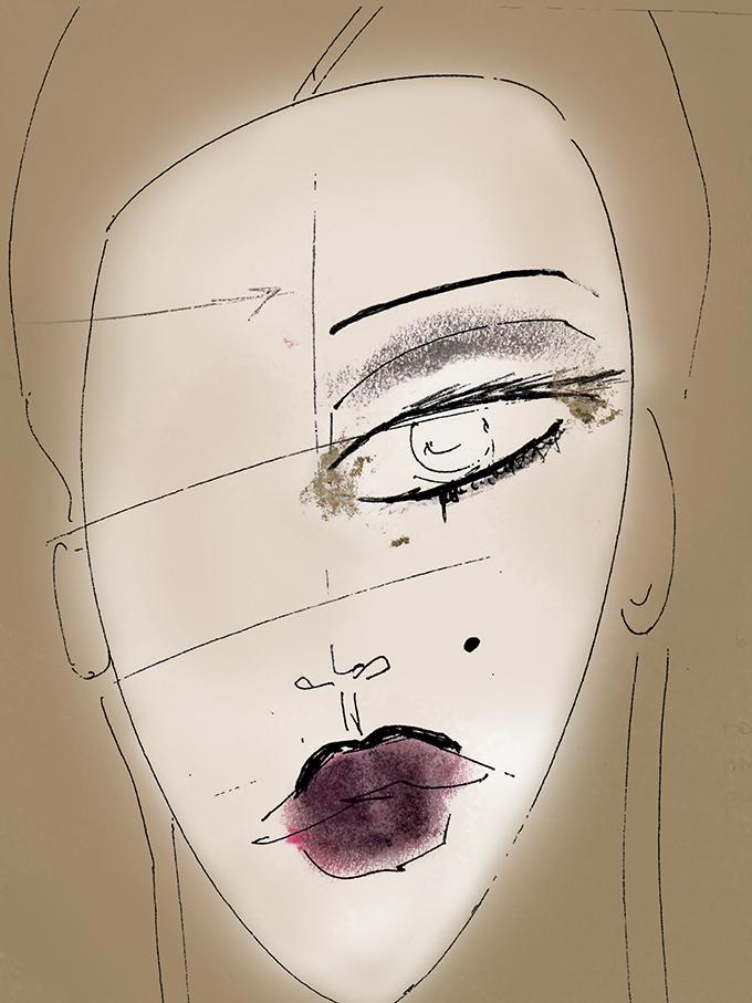 [PAGE 20]Yasmin Heinz Sketch by -® Carol Legrand